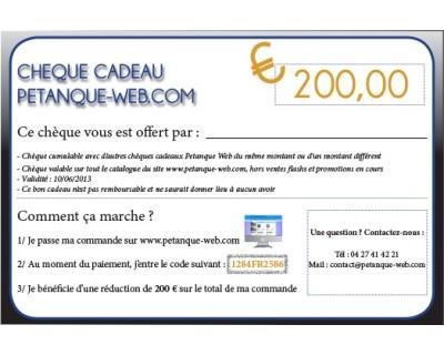 Chèque Cadeau 200 EUR